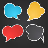Colorful Sticky Speech Bubbles — Stock Vector