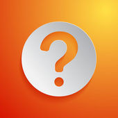 Question mark icon on orange background. Vector illustration — Stock Vector