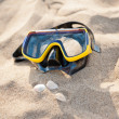 Face mask on the beach — Stock Photo