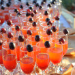 Stock Photo: Glasses with cocktail served on party