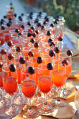 Glasses with cocktail served on a party — Stock Photo