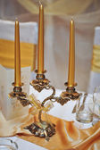 Candlestick with candles — Stock Photo