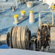 Cable strung on the ship. — Stock Photo