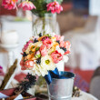 Decoration of wedding table.floral arrangements and decorations — Stock Photo #22451027