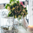 Decoration of wedding table.floral arrangements and decorations — Stock Photo