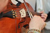Musician playing violin at the opera — Stock Photo