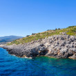 Coast of Greece.View of the coast of Zakynthos from the sea. — Stock Photo