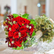 Beautiful wedding bouquet with red roses — ストック写真