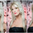 Hairstyle - beautiful sexy blonde female art portrait Elegance Genuine natural blonde with creative makeup Artistry Portrait of a beautiful blonde woman Fashion photo — Stock Photo