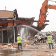 Stock Photo: Shopping center demolition