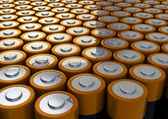 Batteries field — Stock Photo