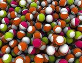 Balls background — Stock Photo
