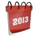 2013 calendar — Stock Photo