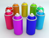 Spray cans — Stock Photo