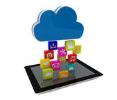 Tablet cloud — Stock Photo