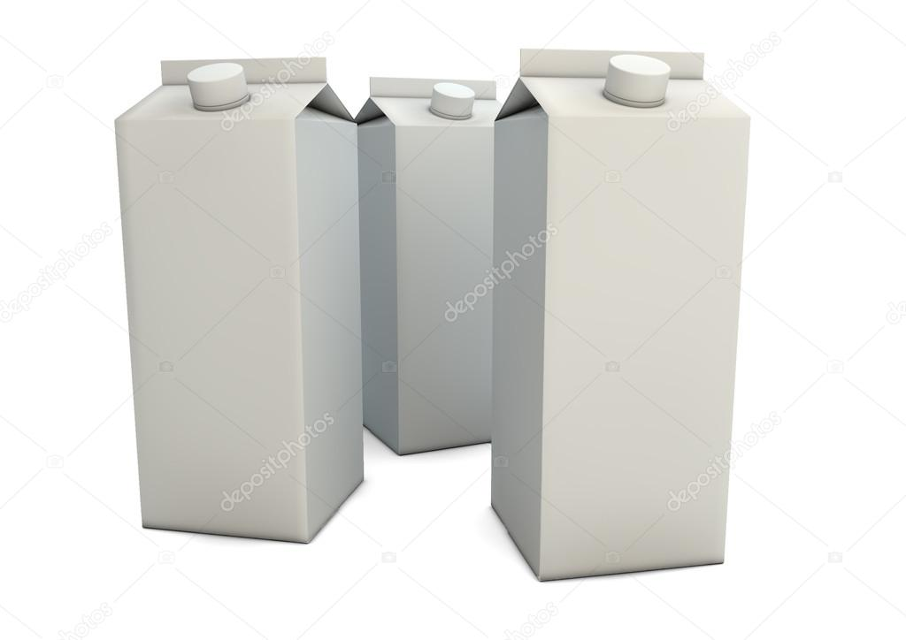 Render of a milk packaging — Stock Photo #16828085