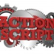 Action script code — Stock Photo