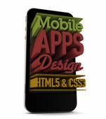 Mobile apps design — Stock Photo