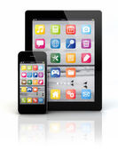 Smart phone and tablet pc — Stock Photo