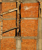 Section of brick building — Stock Photo
