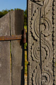 Ancient wooden gate — Stock Photo