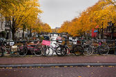 Tipical urban landscape - Amsterdam — Stock Photo
