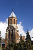 Old brick bells tower of Curtea de Arges Monastery — Stock Photo