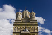 Facade of Curtea de Arges Monastery — Stock Photo