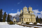 Curtea de Arges monastery in winter — Stock Photo