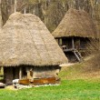 Ancient peasant houses - Stock Photo