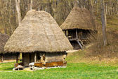 Ancient peasant houses — Stock Photo