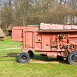 Old threshing machine - Stock Photo