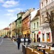 Historic center of Sibiu, Transylvania, Romania - Stock Photo
