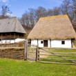 Group of romanian peasant houses - Stock Photo