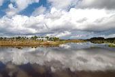 Cloud Reflection at Wellington — Stock Photo