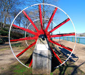 Red Spokes — Stock Photo