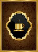 Coffe house menu cover — Stock Vector
