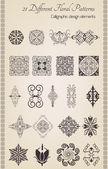 Ottoman motifs retro — Stock Vector