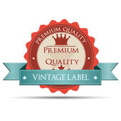 Vintage label and badge — Stock Vector