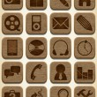 Wooden icons set — Stock Vector #16925653