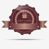 Retro gift badge and label — Stock Vector