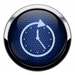 Abstract blue honeycomb clock icon — Stock Vector