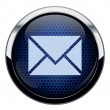 Abstract blue honeycomb mail icon - Stock Vector