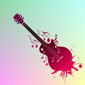 Música de fondo — Vector de stock