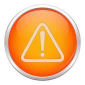 Orange warning icon — Stock Vector