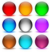 Different colors icons ball — Stock Vector