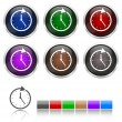 Colorfull watch icons set — Stock Vector