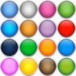 Colorfull icon balls — Stock Vector
