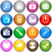 Colorfull icons set — Stock Vector