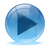 Blue abstract 3d icon ball — Stock Vector